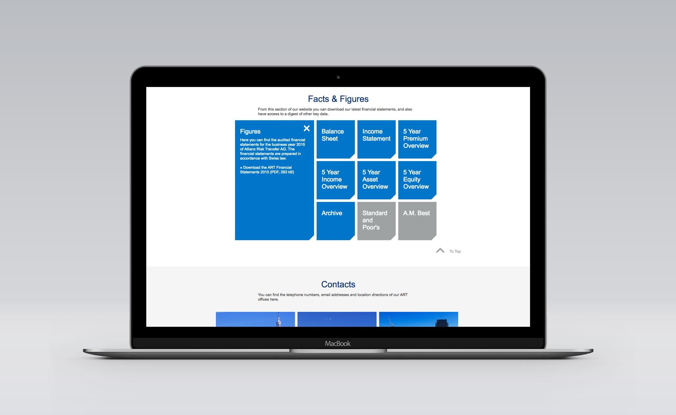 Website Facts & Figures Allianz Risk Transfer Zürich