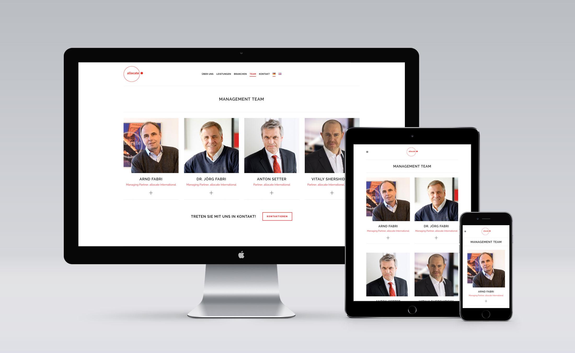 Website Allocate - Management Team
