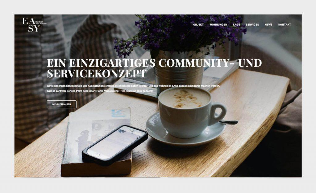 Community- und Servicekonzept. Website EASY München