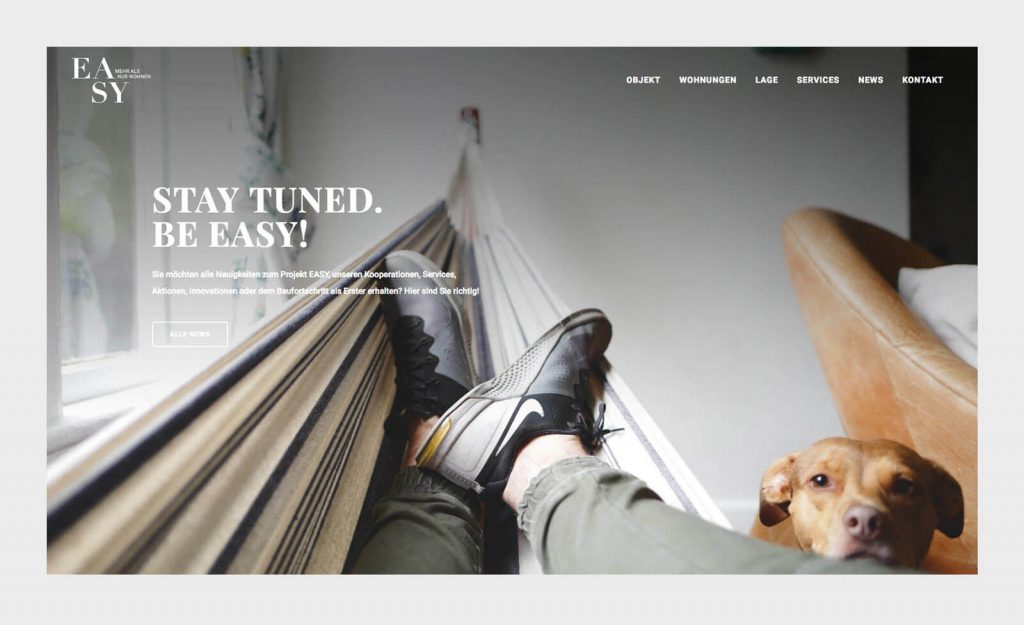 Stay tuned. Be EASY. Website EASY München