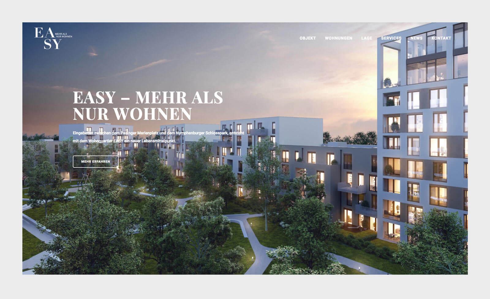 Mehr als nur Wohnen. Homepage EASY München