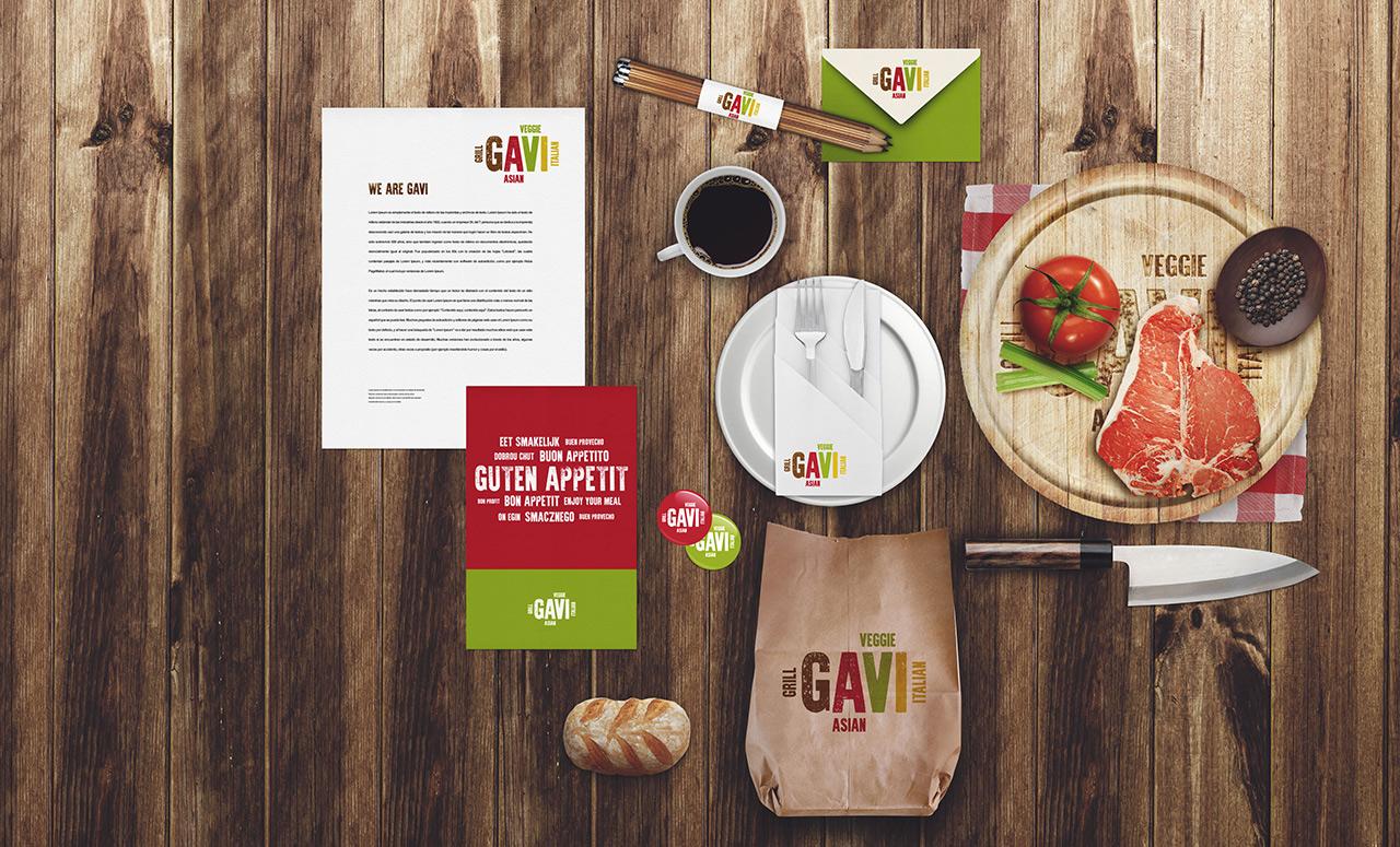 Branding für Restaurant GAVI