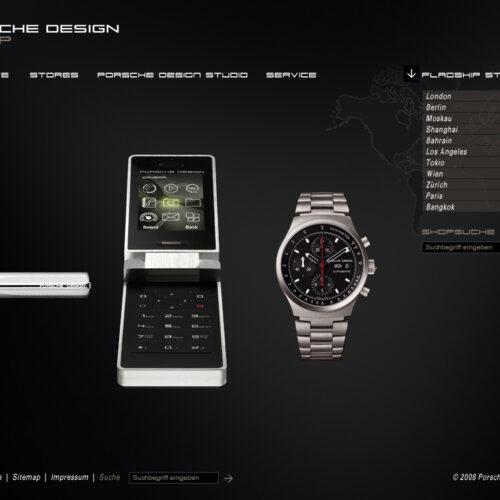 Website Relaunch Porsche Design Group_Homepage