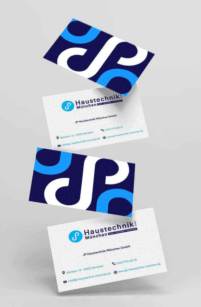 Visitenkarten JP Haustechnik München