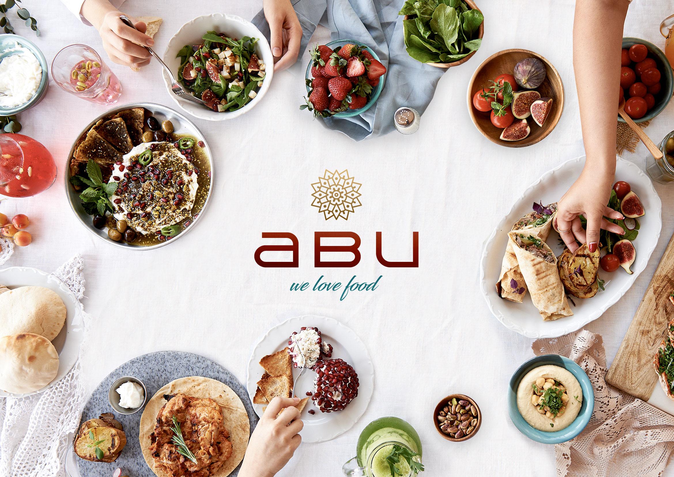 Logo und Branding für Restaurant abu - Variante