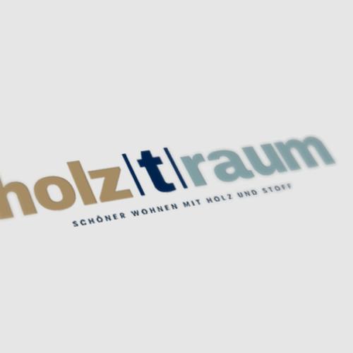 Neues Corporate Design für Holztraum: Logo mit Claim
