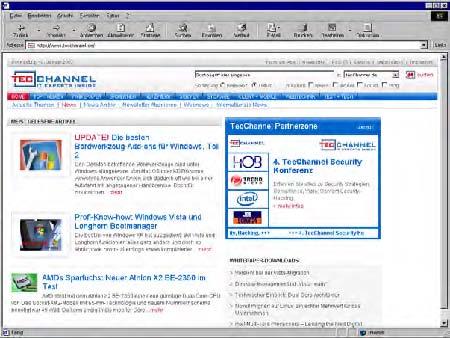 Neues Design - Homepage TecChannel_2007